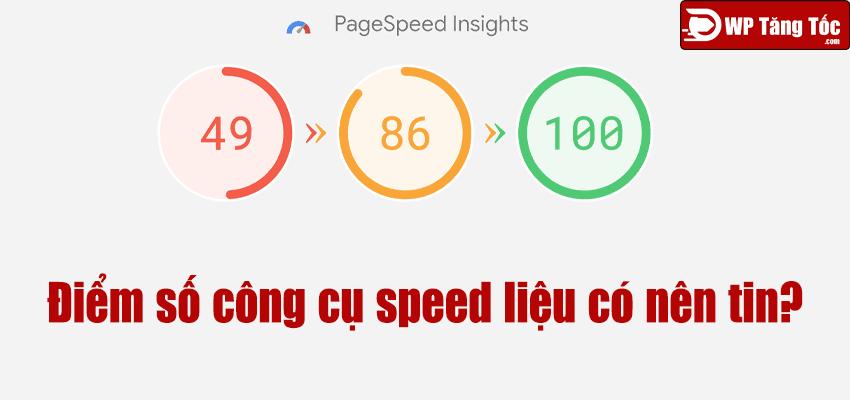 công cụ speed test điểm số có nên tin tưởng