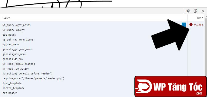 plugin query monitor báo lỗi ghẽn 138ms wp-query tại menu