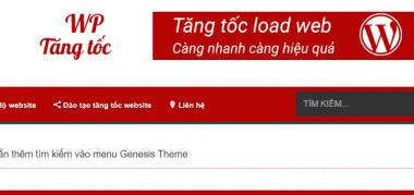 Hướng dẫn thêm nút tìm kiếm menu genesis theme wordpress