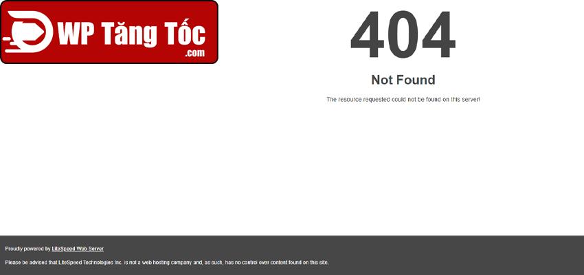 404 hiển thị thành công cài đặt xong openlitespeed