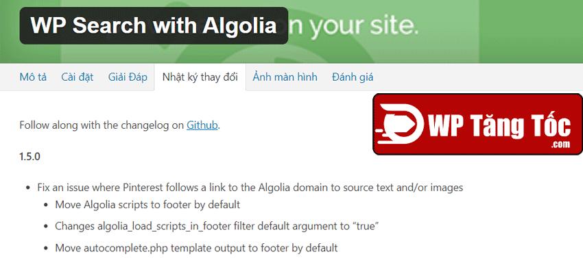cập nhật plugin bản mới nhất đã chuyển xuống footer