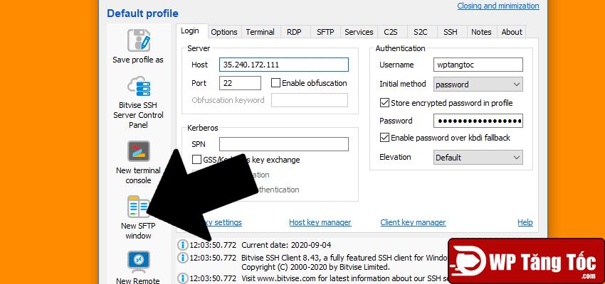 sử dụng sfpt chuyển dữ liệu file