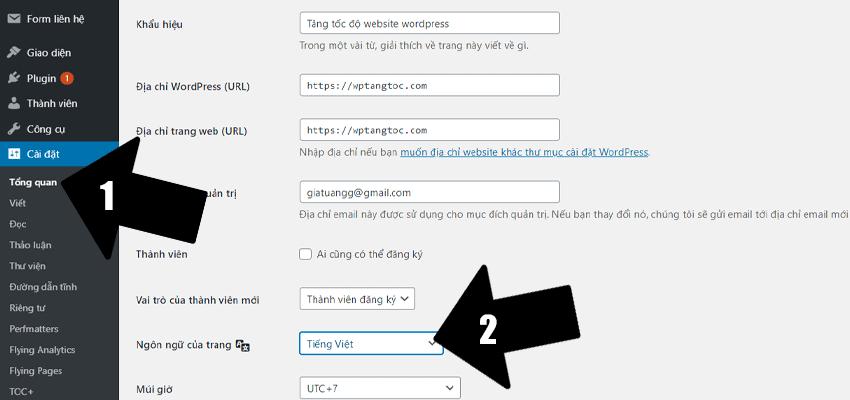 sửa lỗi khai báo mặc định của trình duyệt wordpress