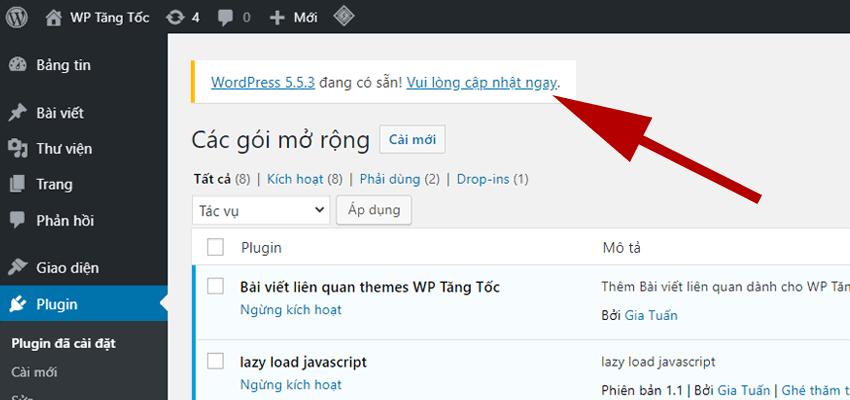 cập-nhật-phiên-bản-wordpress-mới-nhất