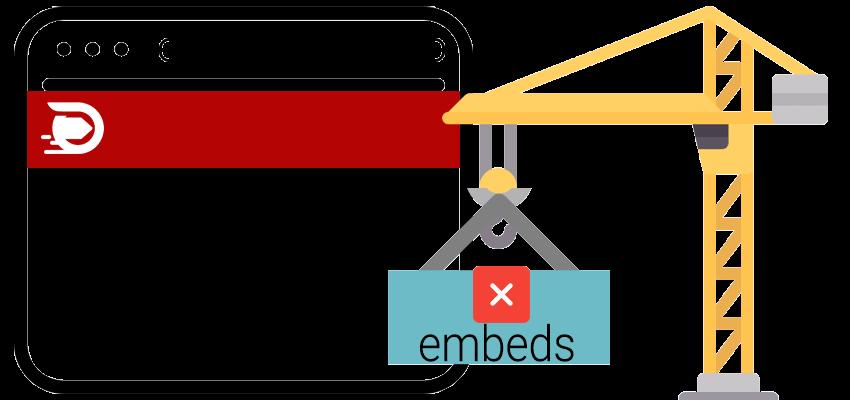 Cách tắt embed trong WordPress