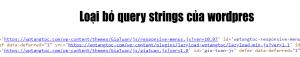 Hướng dẫn loại bỏ query strings
