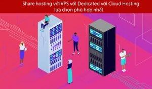 Share hosting với VPS với Dedicated với Cloud Hosting – lựa chọn phù hợp nhất
