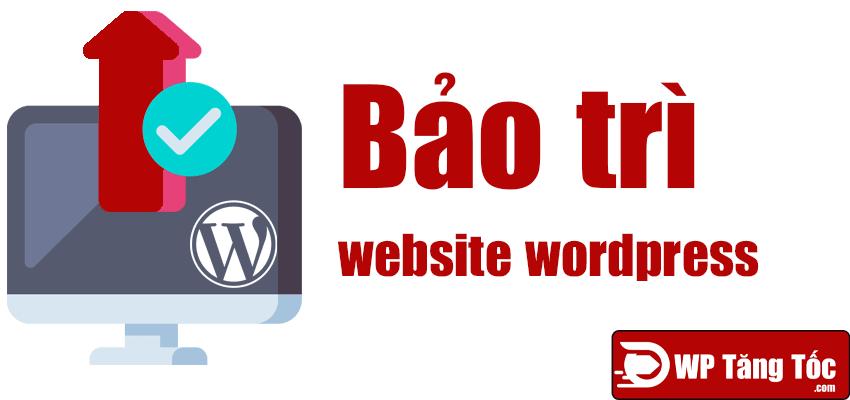 bảo trì website wordpress