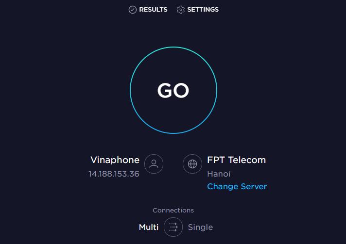 kiểm tra tốc độ internet speed test.net
