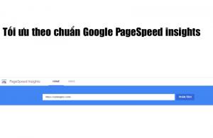 Tối ưu theo chuẩn Google PageSpeed Insights